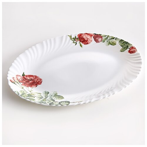 Фото - 0001L2/63-SK Блюдо овальное 30,5см Дикая роза  салатник teropal 0001d9 50 sk asti 21 5 см