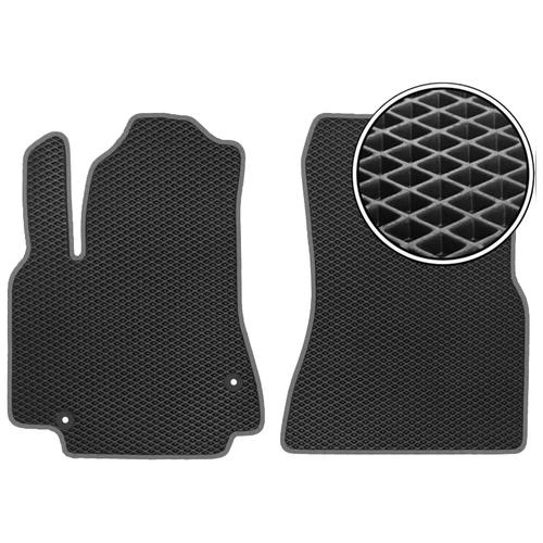 Комплект передних автомобильных ковриков ЕВА Chery Tiggo 3 2014 - наст.время (темно-серый кант) ViceCar