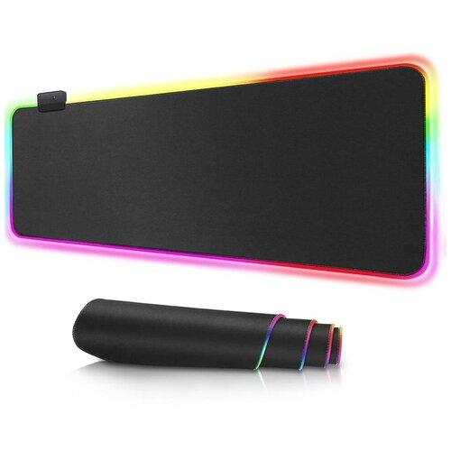 Игровой коврик с RGB подсветкой ОРБИТА ОТ-РСМ54 800х300х3 мм ткань+резина black