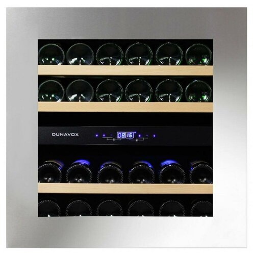 Фото - Встраиваемый винный шкаф Dunavox DAB-25.62DSS.TO винный шкаф 81 л на 32 бутылки монотемпературный серый dau 32 81ss dunavox