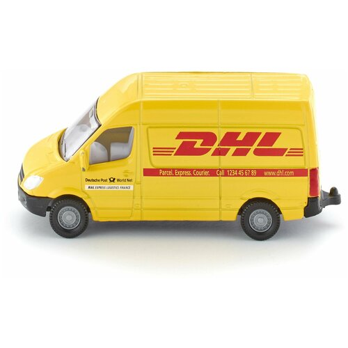 трактор siku с прицепом кузовом 1858 1 87 22 6 см желтый Фургон Siku DHL (1085) 1:87, 7.4 см, желтый