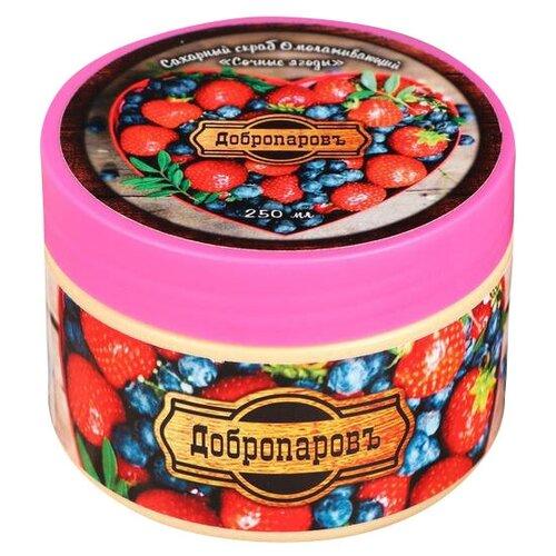 Купить Добропаровъ Сахарный скраб для тела Омолаживающий Сочные ягоды Универсальный, 250 мл