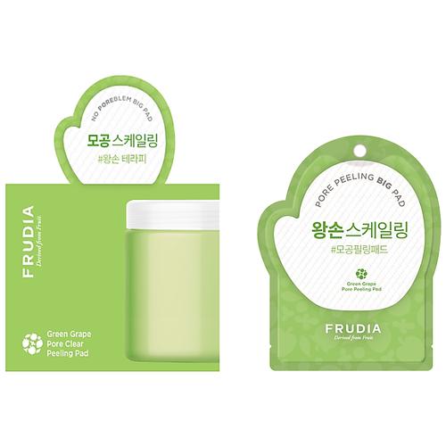 frudia сыворотка green grape pore control serum себорегулирующая с зеленым виноградом 50г Frudia пилинг-диск Green grape Pore Peeling Pad для лица отшелушивающий с зеленым виноградом саше 3 мл