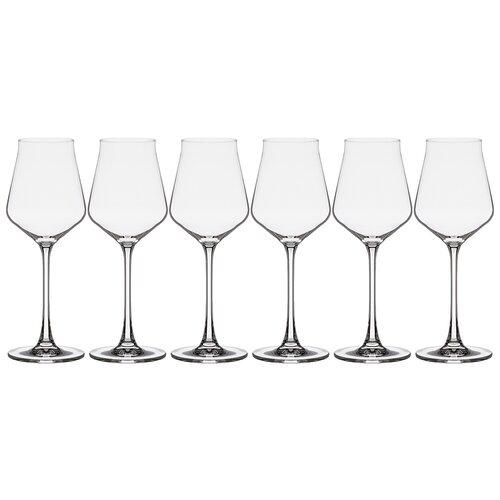 Набор бокалов для вина Crystalite Alca, 6 штук, высота 23,5 см, 310 мл (669-319) ваза globus высота 30 5см crystalite 669 310