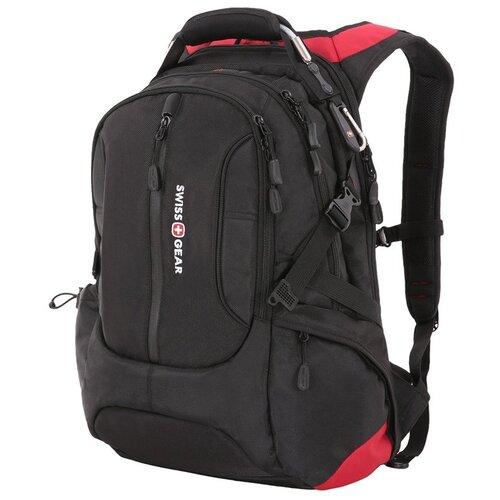 "Фото - Рюкзак SWISSGEAR, 15"", черный/красный, полиэстер 1200D, 36х17х50 см, 30 л рюкзак swissgear 32x15x46 см 22 л черный"