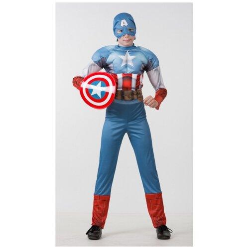 Купить Детский костюм Капитан Америка. Мстители, 122 см., Батик, Карнавальные костюмы
