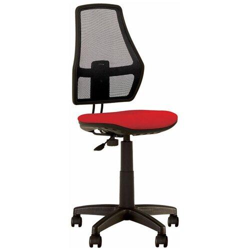 Детское кресло РАДОМ Fox GTS, обивка: текстиль, цвет: сиденье ткань красная / спинка сетка черная