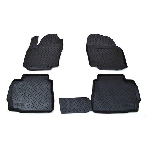 Комплект ковриков салона NorPlast NPL-Po-22-30 для Ford Mondeo 4 шт. черный