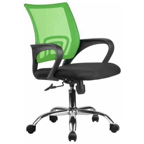Компьютерное кресло Рива RHC 8085 JE офисное, обивка: текстиль, цвет: зеленый компьютерное кресло рива 8074 офисное обивка текстиль искусственная кожа цвет оранжевый
