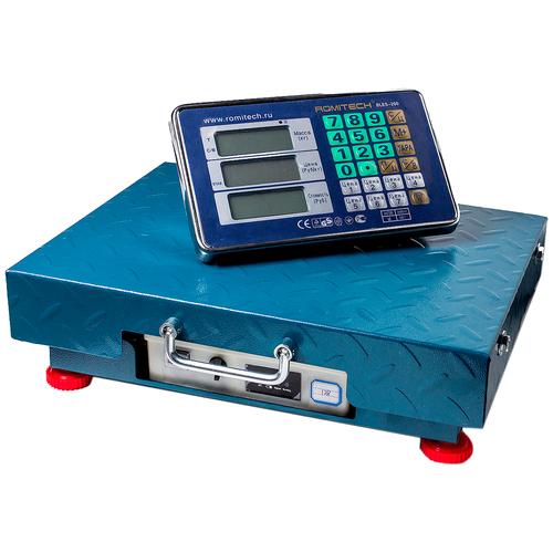 Беспроводные весы торговые (до 200 кг.) Romitech BLES-200, +чехол, нерж. платформа 32x42 см., LCD, АКБ до 200 часов, Bluetooth, счетные платформенные электронные