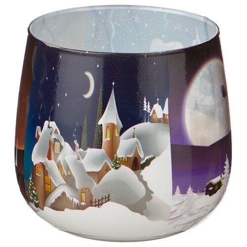 Свеча Adpal Зимний Пейзаж, высота 7 см, диаметр 6 см (348-307)