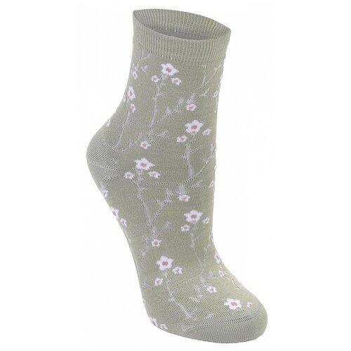 Носки женские Collonil Casual 8-113 оливковые 3941