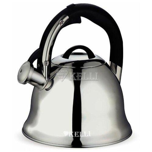 Фото - Kelli KL-4519 Чайник металлический на газ 3л чайник 3л kelli kl 4316 синий