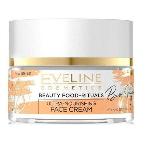 Eveline Cosmetics Bio vegan Ультрапитательный крем для лица дневной-ночной, 50 мл крем для лица ночной eveline bio lifting восстанавливающий против морщин 75 мл