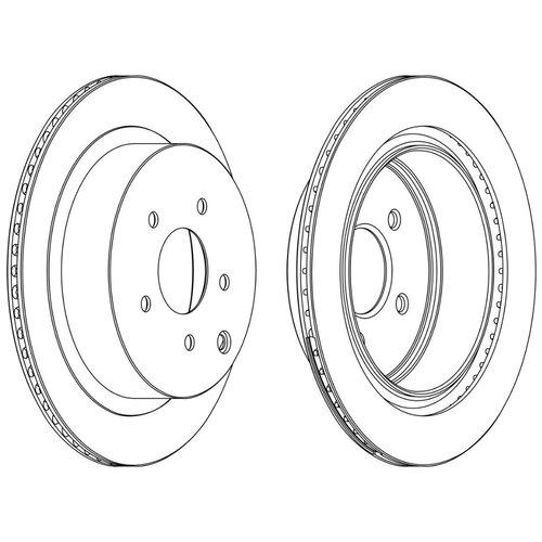 Тормозной диск задний Ferodo DDF1506C 308x16 для Infiniti, Nissan
