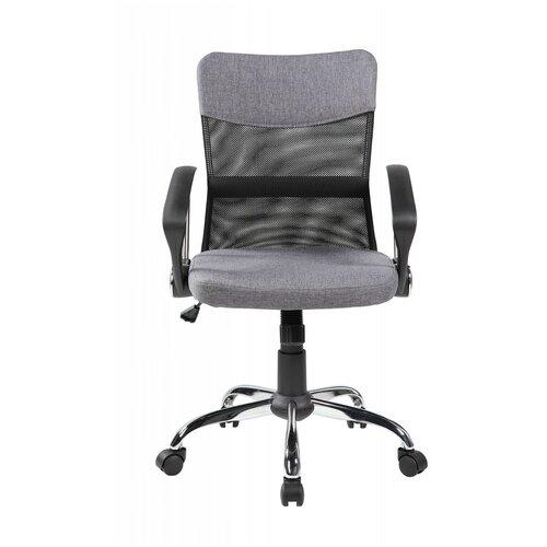Компьютерное кресло Рива 8005 офисное, обивка: текстиль, цвет: серый компьютерное кресло рива 8074 офисное обивка текстиль искусственная кожа цвет оранжевый