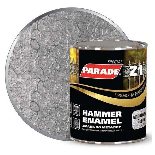 Эмаль алкидная (А) Parade Z1 молотковая серый 0.75 л