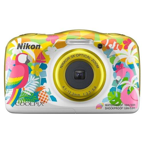 Фото - Фотоаппарат Nikon Coolpix W150 желтый с рисунком фотоаппарат