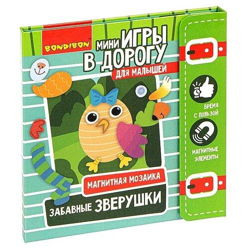 Купить Игра Bondibon Магнитная мозайка. Забавные зверушки , в дорогу (ВВ3475), Настольные игры