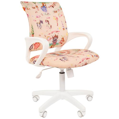 Фото - Компьютерное кресло Chairman Kids 103 детское, обивка: текстиль, цвет: принцессы компьютерное кресло chairman kids 101 детское обивка текстиль цвет монстры