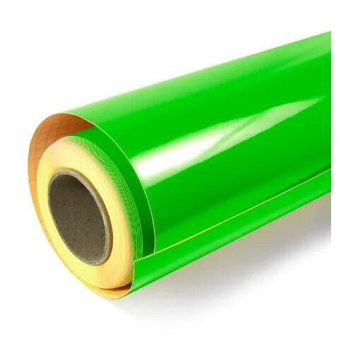 Флуоресцентная плёнка для тюнинга авто, цвет - зелёный, 100х200 см