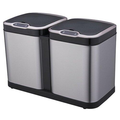 Ведро для раздельного сбора мусора, сенсорное, 2 емкости, Foodatlas JAH-8520, 14л (7+7) ведро для мусора держатель б полотенец foodatlas jah 543 6л белый