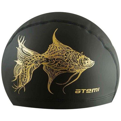 Шапочка для плавания ATEMI PU 302, черный по цене 311