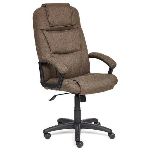 Компьютерное кресло TetChair Бергамо (крестовина пластик, обивка ткань) для руководителя, обивка: текстиль, цвет: коричневый