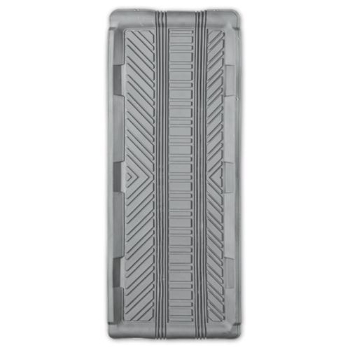 Коврик автомобильный AUTOPROFI TER-150m GY, универсальный, морозостойкий, длинная ванночка заднего ряда, 1 шт., 102 х 40 см., материал термопласт серый
