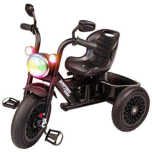 Купить Велосипед детский трехколесный со светом и звуком резиновые безвоздушные колеса, SAFARI, Трехколесные велосипеды