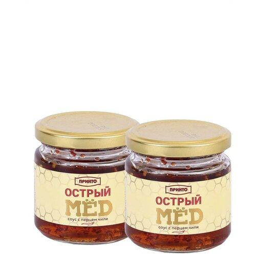 Фото - Соус Острый мед / соус с перцем Чили / мёд / медовый соус / Принто 200г * 2шт соус