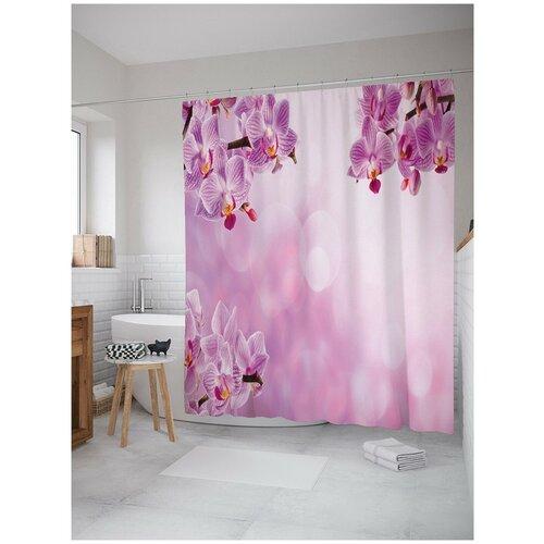 Штора для ванной JoyArty Облачные орхидеи 180х200 (sc-16364)