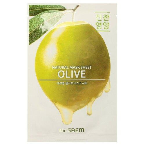 The Saem маска тканевая с экстрактом оливы Natural Olive Mask Sheet, 21 мл the saem тканевая маска zoo