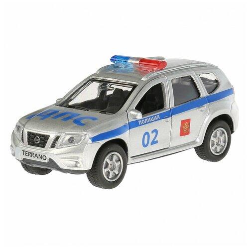 Фото - Машина Технопарк Nissan Terrano Полиция инерционная 250744 машина технопарк chevrolet tahoe инерционная 280925