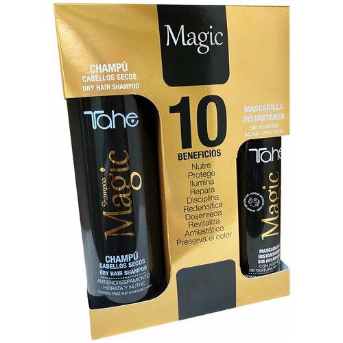Купить Tahe MAGIC PACK (MAGIC INSTANT MASK 125 ml + MAGIC SHAMPOO ̀CABELLOS SECOS 300 ML) Набор MAGIC (Маска мгновенного действия для тонких и поврежденных волос 125 мл + Шампунь бессульфатный для сухих волос 300 мл)