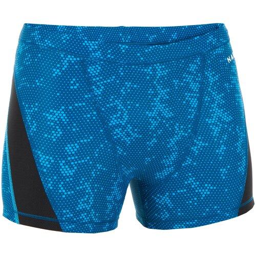 Плавки-боксеры мужские сине-черные STAB, размер: EU38 RU44, цвет: Бензиново-Синий/Сине-Бирюзовый NABAIJI Х Декатлон
