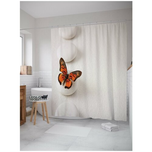 Фото - Штора для ванной JoyArty Прыгучая бабочка 180х200 (sc-16368) штора для ванной joyarty прыгучая бабочка 180х200 sc 16368