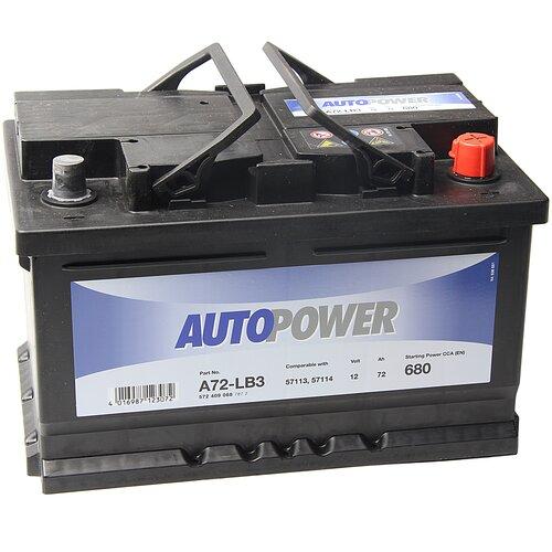 Автомобильный аккумулятор Autopower A72-LB3