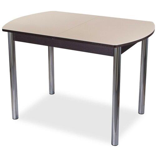 Стол кухонный Домотека Танго ПО 02, раскладной, ДхШ: 110 х 70 см, длина в разложенном виде: 147 см, ВН ст-крем венге/крем 02 хром
