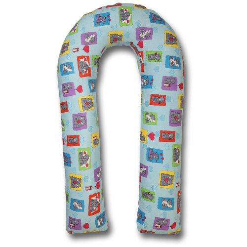 Фото - Подушка Body Pillow для беременных U холлофайбер, с наволочкой из хлопка голубой в разоцветных мишках подушка body pillow для беременных u холлофайбер с наволочкой из хлопка коричневый с бежевыми вензелями