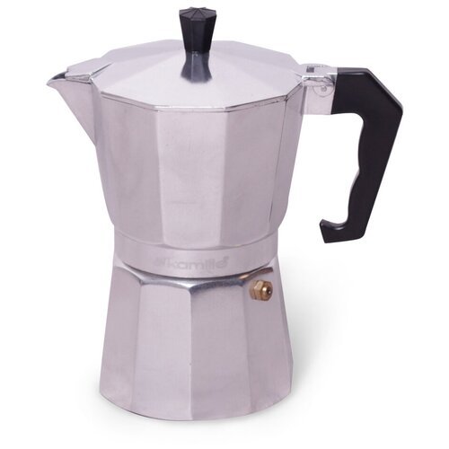 Кофеварка гейзерная Kamille 300мл (6 порций) из алюминия 2501