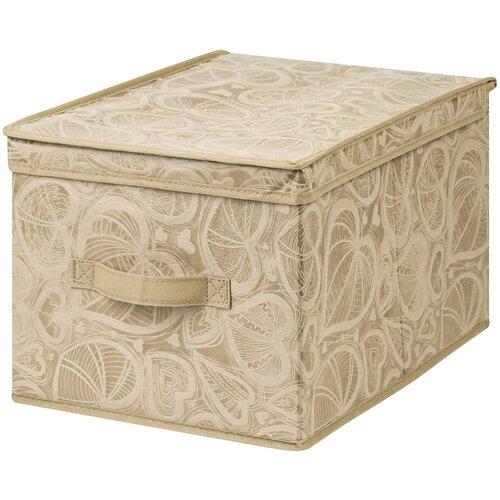 органайзер для хранения el casa золотое сердце 17 5 15 5 10 5 см 5 секций Короб складной для хранения 30х40х25 см Золотое сердце + ручка