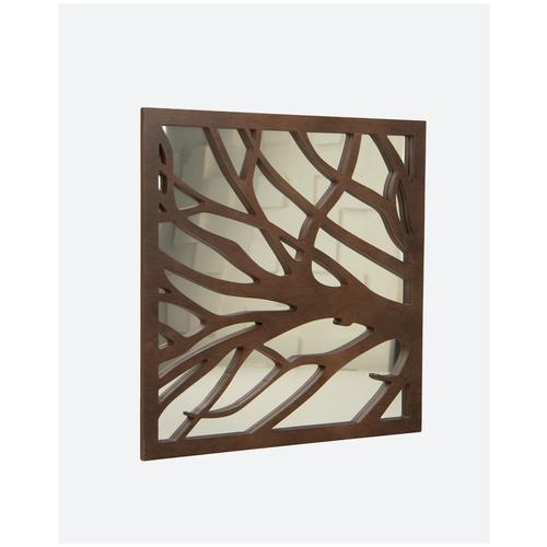 Зеркальная декоративная деревянная 3D панель Relieffo