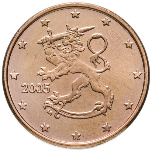 Монета Банк Финляндии 1 цент 2005 года