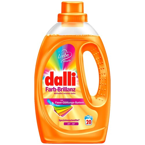 Фото - Гель для стирки Dalli Farb-Brillanz для восстановления оригинального цвета тканей, 20 стирок, 1.1 л, бутылка гель для стирки dalli sport