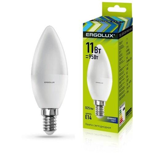 Фото - Светодиодная лампа Ergolux LED-C35-11W-E14-6K светодиодная лампа ergolux led g45 11w e27 6k упаковка 10 шт