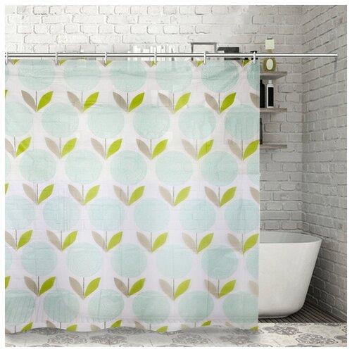Штора для ванной Доляна Одуванчики 180x180 Одуванчики штора для ванной доляна малевич 180x180 малевич