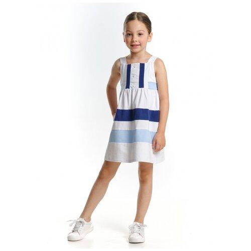 Платье Mini Maxi, 1768, цвет белый/голубой, размер 116