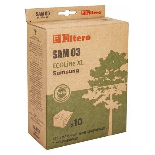 Filtero Мешки-пылесборники и микрофильтр SAM 03 ECOLine XL бежевый 11 шт. недорого