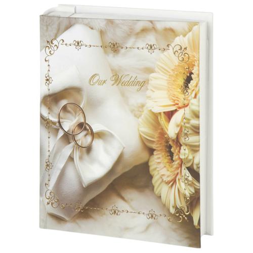 Фотоальбом BRAUBERG Свадебный букет (391152), 200 фото, 10 х 15 см, бежевый/золотистый